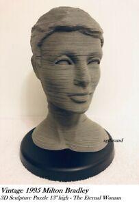 Vintage 1996  3D Sculpture Bust Figure Puzzle - The Eternal Woman - Assembled