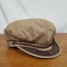 Vtg Men's Beige Brown Greek Fisherman's Sailors Fitted Hat Cap - Size XL 7 5/8