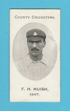CRICKET - TADDY & CO. - VERY RARE CRICKET CARD -  F. H. HUISH  OF  KENT  -  1907