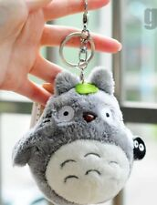 "Totoro Plush Gray Stuffed Animal Toy Studio Ghibli Anime 4"" Keychain US Seller"