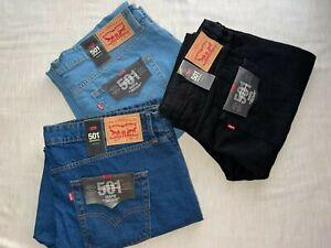 Levi's 501 Straight Leg Original Jeans Sits at Waist