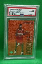 1996 Upper Deck Allen Iverson Rookie Exclusives graded PSA 10