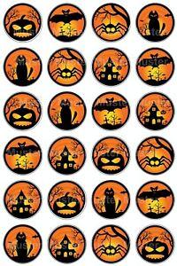 Halloween eßbar Torten-Bild-Aufleger Party Deko Geburtstag Muffin trick or treat
