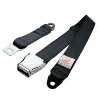 1Kit Airplane 2pt / 2 Point Harness Safety Belt Seat Belt Lap Strap Color Black