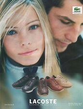 Publicité 2000  LACOSTE basket sport chaussure collection mode