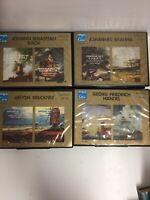 4x Magna Classic Cassette Tape Sets -Paper Labels - Bach Handel Bruckner Brahms