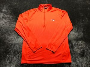 The North Face Men's Long Sleeve 1/4 Zip Up Shirt Size M Medium Orange