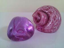 Wedgwood Art Glass pink Snail Shell Paperweight +  Caithness second alexandrite