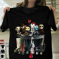 Chibi Horror Movies Characters Reflection Halloween T-Shirt Tee Shirt Size S-5XL