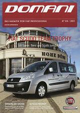 Fiat Domani Zeitschrift 2011 3/11 D Doblò Cargo System Scudo Team Trophy Heizung