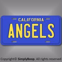 Los Angeles Anaheim Angels California MLB Baseball  Aluminum License Plate Tag