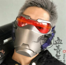 OW Soldier 76 Mask Overwatch Cosplay Prop Light-Up LED Soldier 76 Mask Halloween