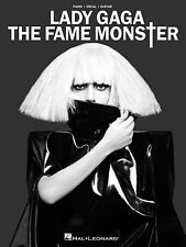 LADY GAGA THE FAME MONSTER PIANO GUITAR SONG BOOK NEW