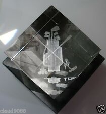 """CRYSTAL IMPRESSIONS """"GOLF ACCESSORIES"""" 860829 MADE IN ISRAEL SMALL CHIP"""