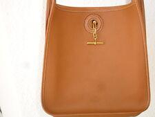 Authentic Hermes Light Brown Leather Vespa Shoulder Bag  Excellent Condition