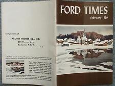 1959 FEBRUARY FORD TIMES  VOL. 51  NO. 2  MAGAZINE