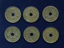 BELGIUM  5 CENTIMES COINS: 1904, 1905, 1906, & 1925, GROUP LOT OF (6)!