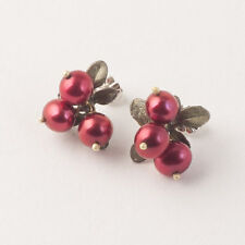 Michael Michaud - Cranberry Earrings - Silver Seasons Jewelry - Freshwater Pearl