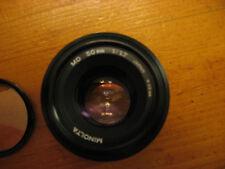 Minolta MD 50mm f1:1.7 w/ Quantaray UV filter