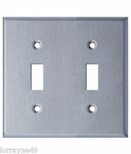 Westgate 7712 (Ssc22) Two Gang Toggle Switch Stainless Steel Wallplate