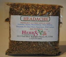 Herbs by Merlin HEADACHE TEA-  Organic Leaf Tea 3 oz