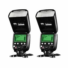 2 x Pixel X800C Pro Version Lightweight HSS GN60 Flash Speedlite for Canon DSLR