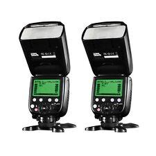 2 x Pixel X800C Pro Version Lightweight HSS GN60 Flash Speedlite for Canon DSLR