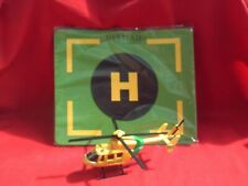 HTI DIE CAST HELI- MED RESCUE HELICOPTER AND HELI-PAD APPROX 1:60 SCALE