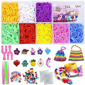 Bst4u Loom Rubber Bands Kits 2000 Rubber Bands with 10 Colors, 189 Accessories,