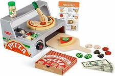 Melissa & Doug Pizza Counter Top & Bake Wooden Kids Family Toy Gift