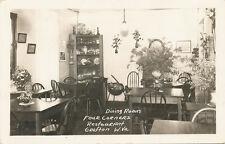 Grafton WV * Four Corners Restaurant Dining Room Interior RPPC c 1950 Taylor Co.