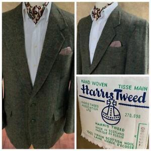 Harris Tweed Country Shooting Jacket Blazer 44S - Green Collectors Tweed - A53