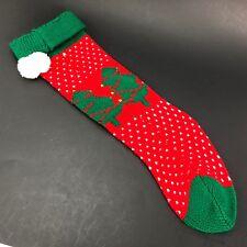 "Vintage Ugly Sweater Stocking Christmas Decoration Christmas tree Pom Pom 16"""