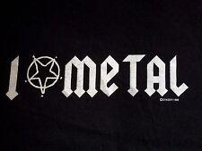 I Love Metal Pentagram Vintage T-Shirt by Chaser 1996 Black Death Thrash Metal