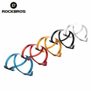 New ROCKBROS Cycling Water Bottle Holder Bike Bracket Alloy Cages Double Side