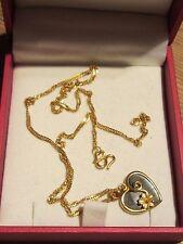 22 CT collar de oro con corazón PEDANT de Hong Kong viene con una caja