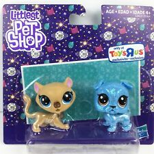 Littlest Pet Shop Sparkle Bulldog and Cheetah S-4 S-6 Exclusive Toy Figures New