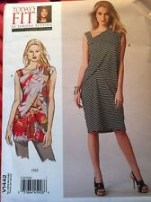 Vogue Sewing Pattern V1442 New Uncut Misses Tunic Dress Template Betzina Sandra