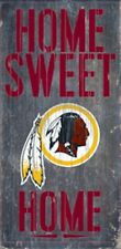 "Washington Redskins Home Sweet Home Wood Sign 12"" x 6"" [NEW] NFL Man Cave Wall"