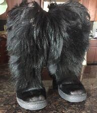 Pajar Women's Scarlet Black Goat Hair Boots Size 39/9