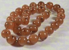 Lovely Vintage Joan Rivers Faux Brown Marbled Agate Necklace