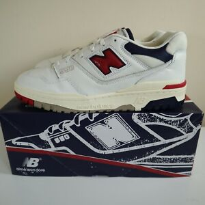 New Balance 550 x Aime Leon Dore - White Navy Red - Size 10 - (BB550A3)