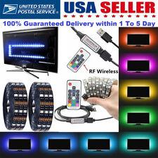 5V 5050 RGB LED Strip Lights Colour Changing USB TV PC Back Mood Lighting Decor