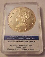 GETTONE Liberty Head Eagle layered replica 24k dorato