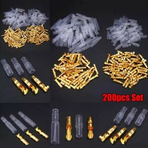 Brass Bullet Terminals Brass + Plastic Connector Female Useful Durable