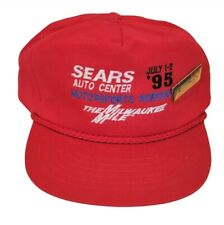The Milwaukee Mile Sears Auto Center 250 - 1995 Red Snapback Racing Hat w/ Pin