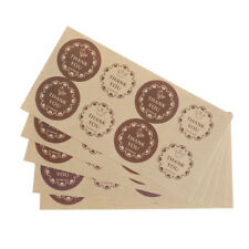 40X=5Sheet DIY Thank You Sticker Labels Envelope Card Package Seals Craft GiftLW