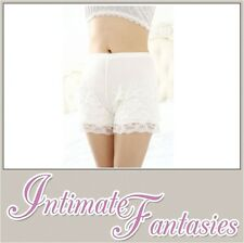 Sexy White Modal French Knickers Lace Lingerie Boy Shorts Underwear Size 8 10