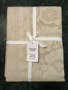 """William Sonoma Vintage Floral Jacquard Tablecloth, Size 70""""X108"""", $169.95, New."""