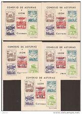 1937 ESPAÑA FILABO HB NE17/21** HOJA CONMEMORATIVA ASTURIAS Y LEÓN VC 300,00€